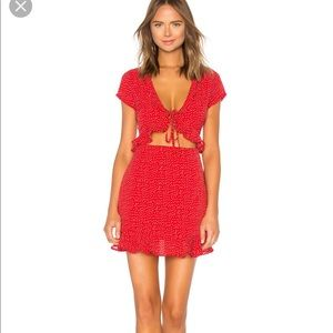 NWT By the way mercy dress in red Size Small